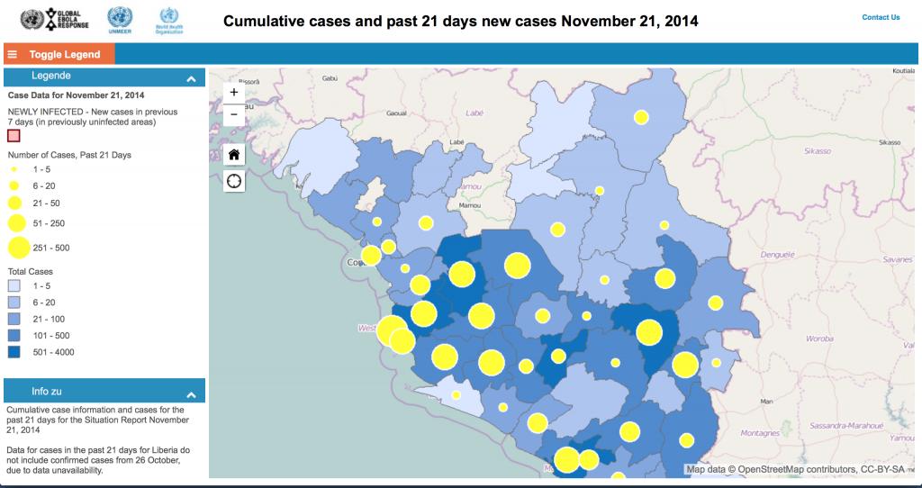 Ebola interactive map